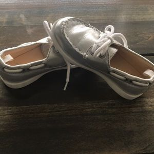 Gymboree Toddler Girls Silver Slip On Shoes